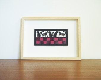 CATS Papercut, Picture for Cat Lover, Paper Cut, Paper Cut Art, Papercutting, Papercraft, Wall Art, Paper Cut Out, Papercuts
