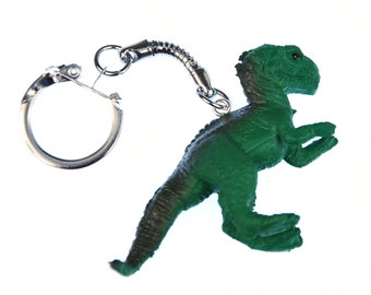 SA009APRME T-Rex Keychain of Miniblings Tyrannosaurus Dino dinosaur Green