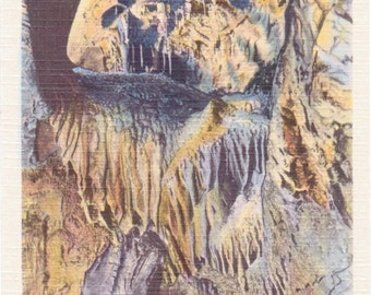 Howe Caverns, New York, Home of the Fairies, Inverted Village - Linen Postcard - Unused (A5)