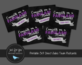 Direct Sales Team Achievement Celebration Post Cards - Younique - YOU PRINT (Digital File) 5x7
