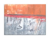 Large Abstract Painting. Canvas Painting. Home Decor and Wall Decor. Abstract Wall Art Size 48x36 Inches. Orange Painting