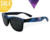Dark Galaxy shades - Nebula Space Cosmic hand painted Wayfarer style sunglasses '80s retro