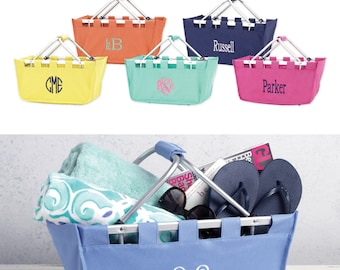 Personalized Monogrammed Market Totes prefect for Easter