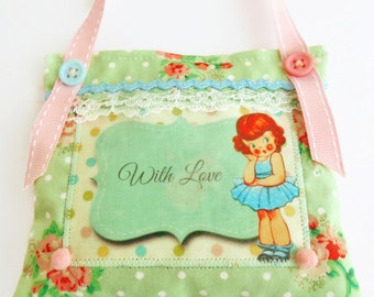 Retro Inspired Mother's Day Lavender Sachet/Door Hanger
