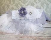 Newborn Prop Set, Newborn Headband, Lace and Knit Stretch Wraps, Newborn Photo Prop Set, Newborn Faux Fur, Photography Props