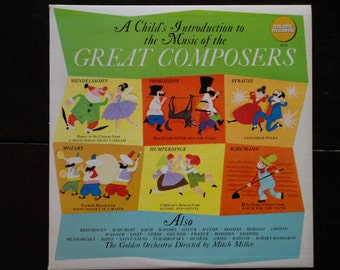 Children's Vinyl Record Album LP-A Child's Introduction to the Music of the Great Composers-1967-Golden Records-Mitch Miller