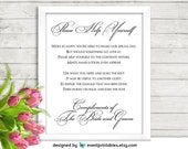 Bathroom Basket Sign, Printable Washroom Wedding Sign, Restroom Sign, Ladies Bathroom Sign, Simply Elegant DIGITAL FILE by Event Printables