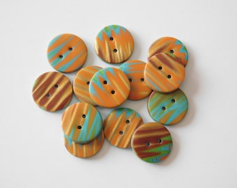"""Polymer Clay Buttons, 16 mm buttons, 5/8"""" buttons"""