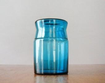 Mid Century Scandinavian Style Glass Storage Jar / Container