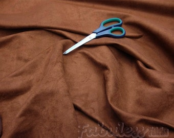 Upholstery Suede fabric Leather Brown Micro Suede Fabric per yard