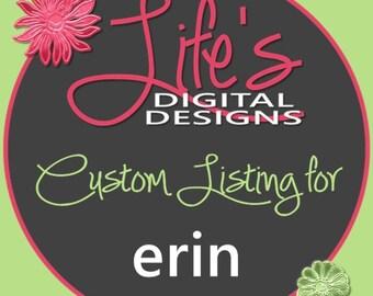 Custom Listing for Resize for Erin