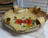 Turn-Teplitz Pottery Platter Centerpiece