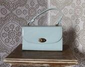 Vintage 1960's  Pale Blue Box Purse