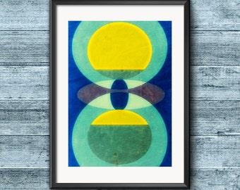 Geometry - original geometric art print