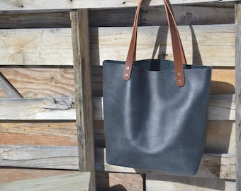 Leather Tote- Leather Shopper- Leather Bag