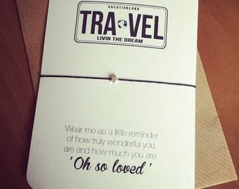 Travel...Wish String Bracelet...