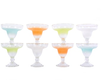 Set of 8 Blendo Cocktail Glasses - New Old Stock in the Original Box