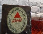 Handmade Brew Slate Coaster - Bass