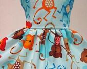 Jungle Monkeys, Blue Dress for your American Girl Doll D