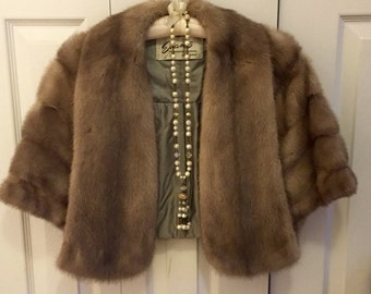 Fabulous Vintage Fur Wrap by Evans Master Furrier Chicago