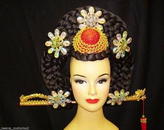 Samba Chinese China Geisha Japanese Rose Flower Headdress