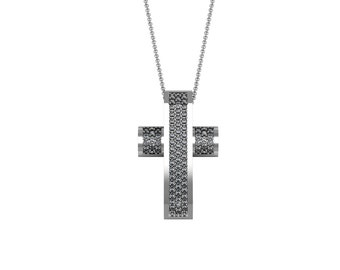 Bling Bling Diamond Cross Pendant Necklace in 14k White Yellow Rose Gold 0.76ct tw | made to order for you within 5-7 business days