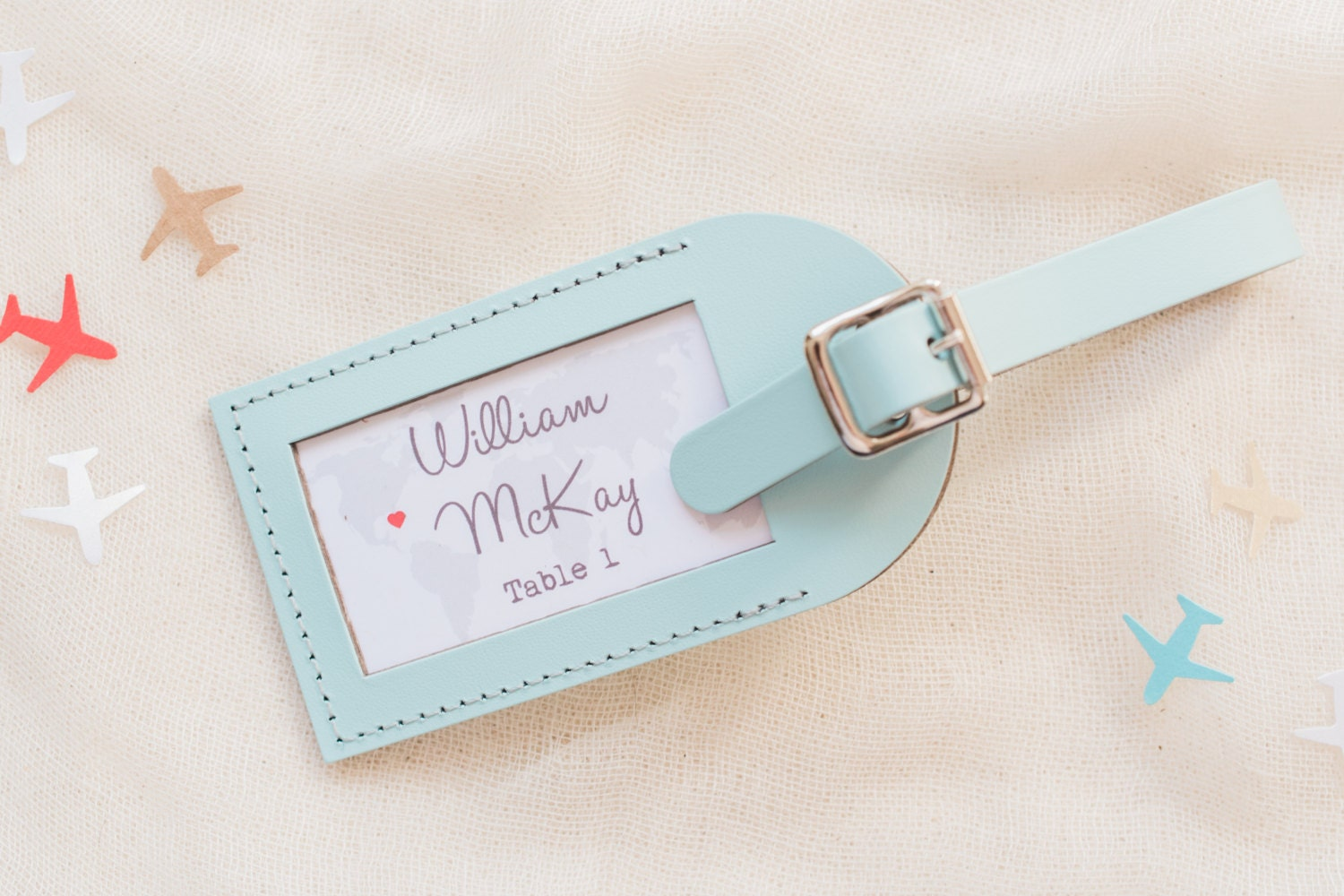 Wedding Favor Luggage Tags Leather : Wedding Favors Find Your Seat Escort Card Leather Luggage