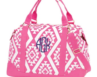 Personalized Weekender Bag ~ Monogrammed Luggage ~ Hot Pink Personalized Overnight Bag ~ Great Gift!