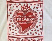 Flour Sack Dish Towel - Milagro: Red or Indigo