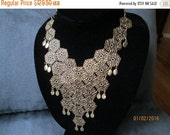 NOW ON SALE Vintage Designer Signed Vendome Bib Necklace 60's 70's Retro Rockabilly Mad Men Mod Old Hollyood Glam Black Tie Jewelry Martini