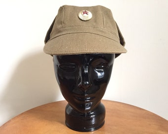 Russian Military Hat - Russian Army Hat - Army Helmet - Army Uniform - Vintage Hat