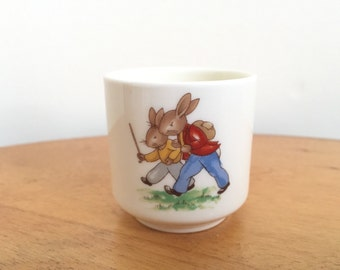 Bunnykins Egg Cup - Royal Doulton Bunnykins Eggcup - Vintage Dishes
