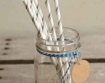 SALE 50% OFF Christmas Straws  Christmas Favors Silver Striped Straws Wedding Favors Drinking Straws Utensil Tableware Bridal Shower Favors