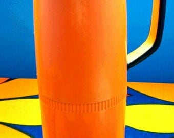 Orange and Black 1960's Insulated Coffee Carafe Thermos
