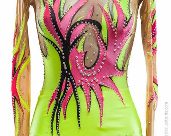 Rhythmic Gymnastics Leotard #41 for Competition | Order as Ice Figure Skating Dress, Acrobatic Gymnastics Costume or Baton Twirling Leotard