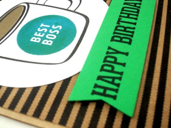 Boss Birthday Card Best Boss Card Birthday Card for Boss – Birthday Card for Manager