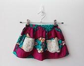 CUSTOM ORDER Wild African Kids Pocket Skirt Size 5/6