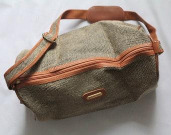 Tweed Samsonite Overnight Bag 1960's