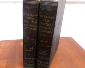 Funk and Wagnalls new Practical Dictionary 2 volumes 1952