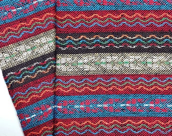 Thai Woven Fabric Tribal Fabric Cotton Native Fabric by the yard Ethnic fabric Aztec fabric Craft Supplies Woven Textile 1/2 yard (WF86)