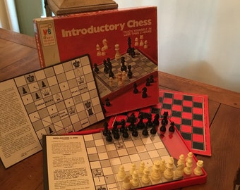 milton bradley chessmen wood small