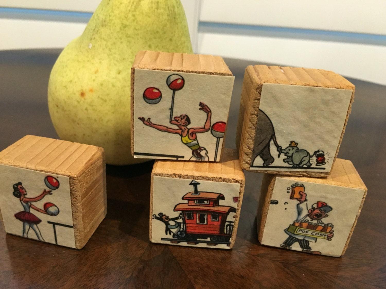 Ohio art vintage wooden blocks