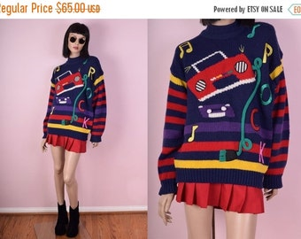 SUMMER SALE 80s Boombox Sweater