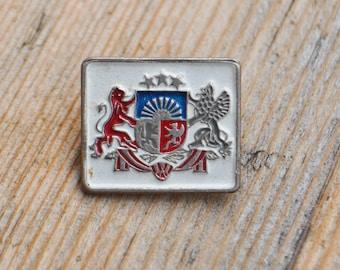 "Vintage Latvian patriotic badge."" Coat of arms of Latvia"""