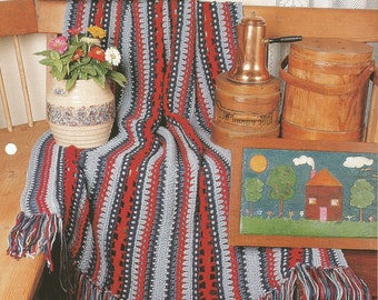 The Needlecraft Shop Country at Heart Colonial Comfort Afghan Collector's Series Pattern