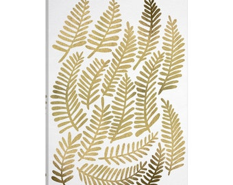 iCanvas Gold Fronds Artprint Gallery Wrapped Canvas Art Print by Cat Coquillette