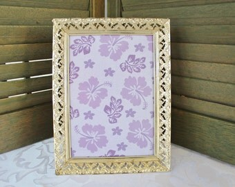 Gold Ornate Metal Picture Frame 5 by 7
