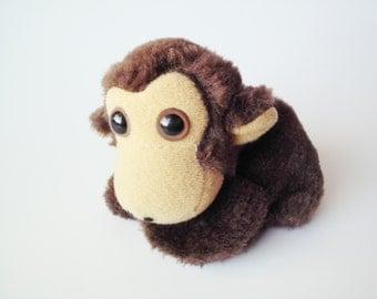 Vintage Circus Circus Casino Tiny Stuffed Plush Monkey