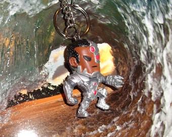 Cyborg Key Chain, Collectible Mini Figure, Fun.