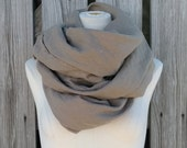 Flash SALE - Mad Max Scarf - Coffee Brown Linen Scarf - Mocha Brown Scarf - Linen Flax Scarf - Unisex Scarf
